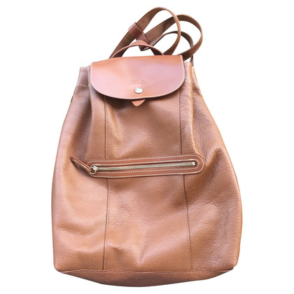 Longchamp leather backpack