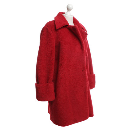 MM6 by Maison Margiela Plush coat in red