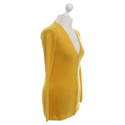 FTC Cardigan en jaune moutarde
