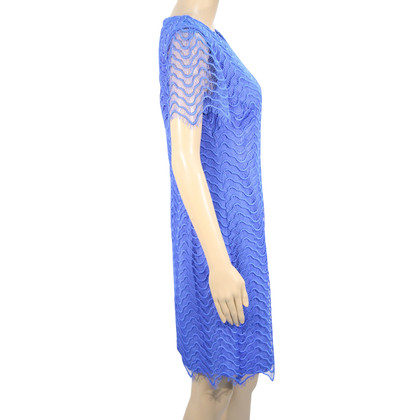 Reiss Kanten jurk in blauw