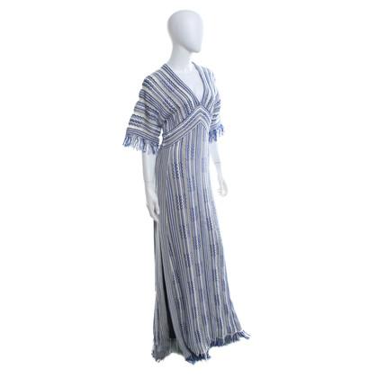 Tory Burch Kleid in Blau-Weiß