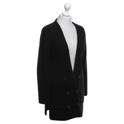 Stefanel Knitted cardigan in black