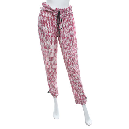Maje Silk trousers with pattern