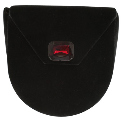 Saint Laurent Velvet shoulder bag in black