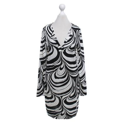 """Diane von Furstenberg Kleid """"Reina"""" in Schwarz/Weiß"""