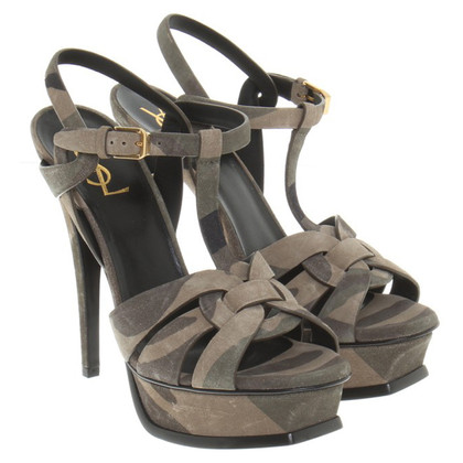 Saint Laurent Sandals with camouflage pattern