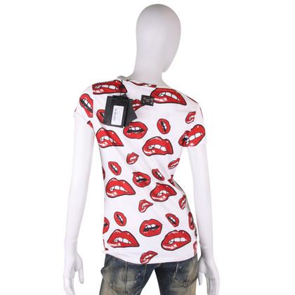 Philipp Plein T-shirt with lip print