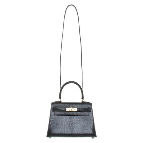 Günstig Kaufen 100% Authentisch Spielraum Breite Palette Von Hermès ''Kelly Bag 20'' aus Eidechsenleder Blau LB7e05jx