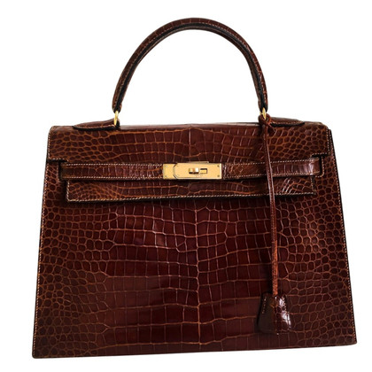 "Hermès ""Kelly Bag 32"" aus Krokodilleder"