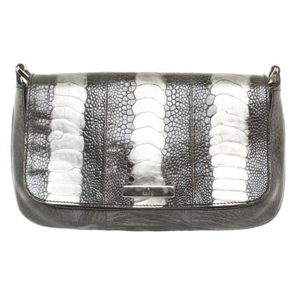 Gucci Handbag ostrich leg leather