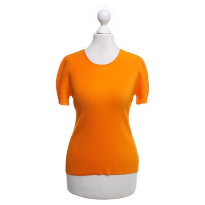 Issey Miyake Geplooide Top in Orange