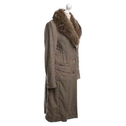 Windsor cappotto di cachemire con pelliccia