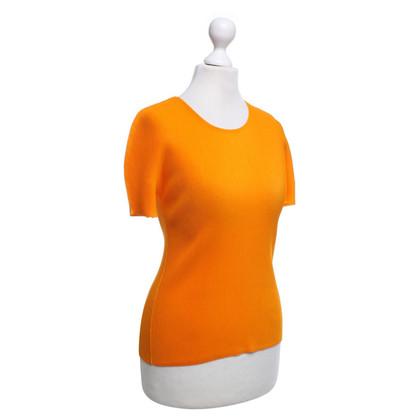 Issey Miyake Top plissés à Orange