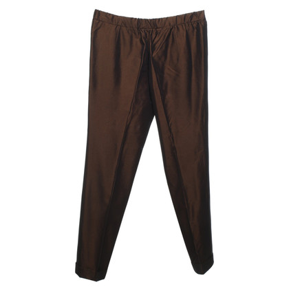 Jil Sander Bronze-colored trousers