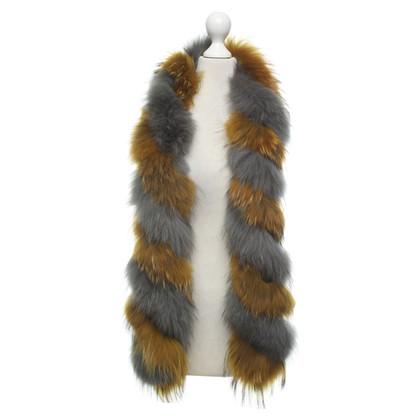 Steffen Schraut Two-tone fur scarf