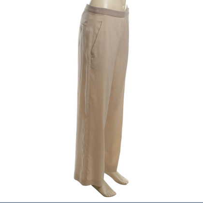 Brunello Cucinelli Silk broek in nude