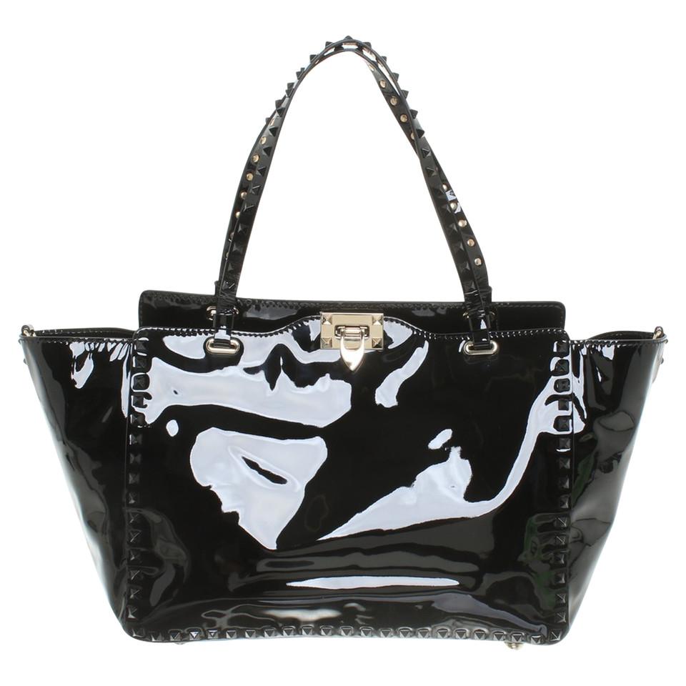 valentino rockstud bag in schwarz second hand valentino rockstud bag in schwarz gebraucht. Black Bedroom Furniture Sets. Home Design Ideas