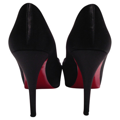 Christian Louboutin Peeptoes in Satin