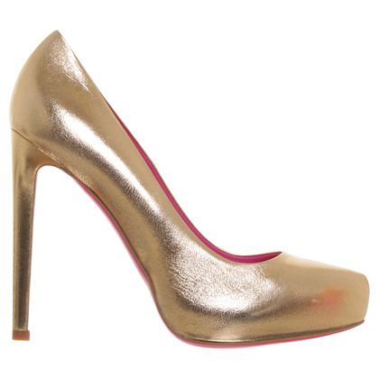 Gianni Versace pumps in metalen bronzen kleuren