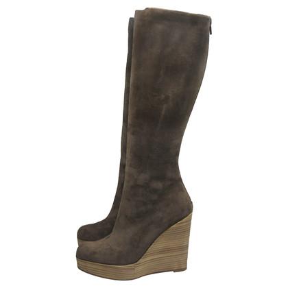 Christian Louboutin Suede platform boots