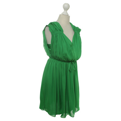 Halston Heritage Silk dress in green