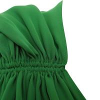 Halston Heritage Silk dress in green
