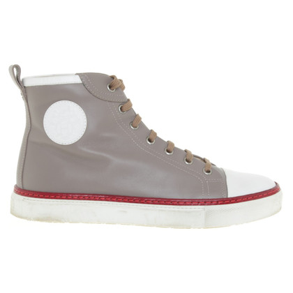 Hermès High Top Sneakers in Taupe