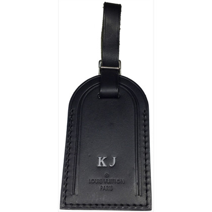 Louis Vuitton Address tag in black