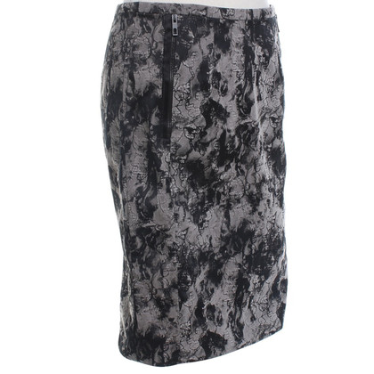René Lezard Pencil skirt with pattern