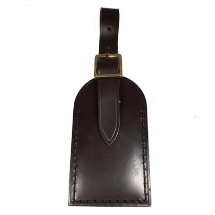 Louis Vuitton Targhetta per indirizzo in marrone scuro
