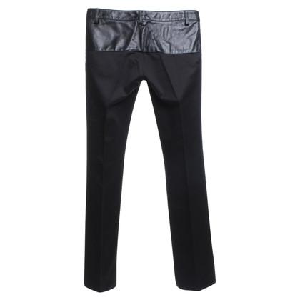 Gucci Pantaloni con finiture in pelle