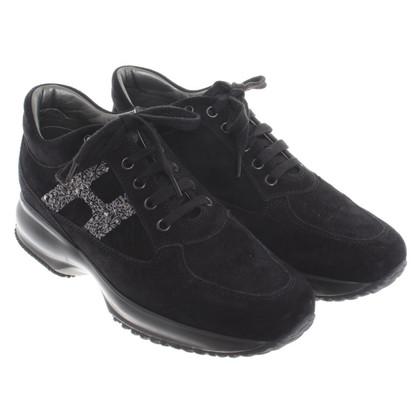 Hogan Sneakers in camoscio nero