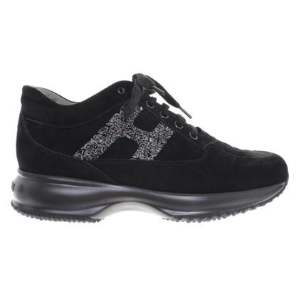Hogan Wildleder-Sneakers in Schwarz