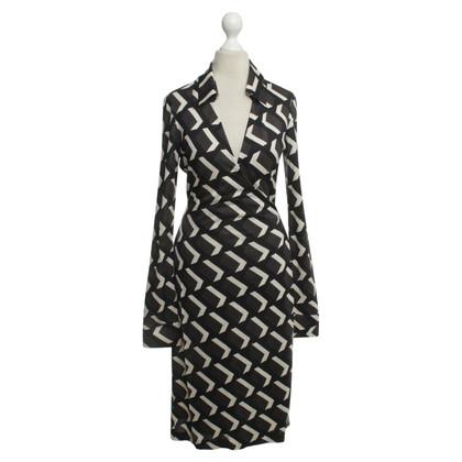Diane von Furstenberg Geometrische print omslag jurk
