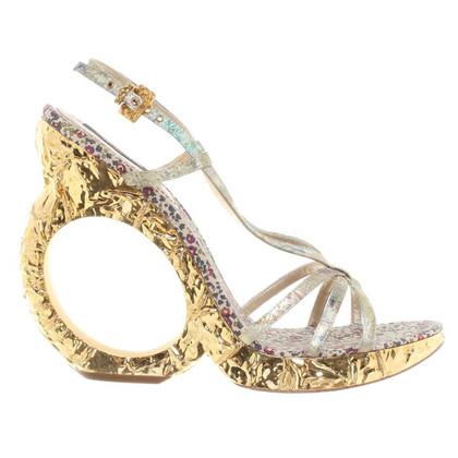 Louis Vuitton Sandaletten mit Keilabsatz