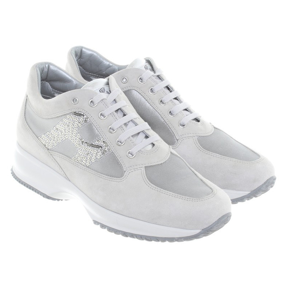 Hogan Sneakers in silver-grey