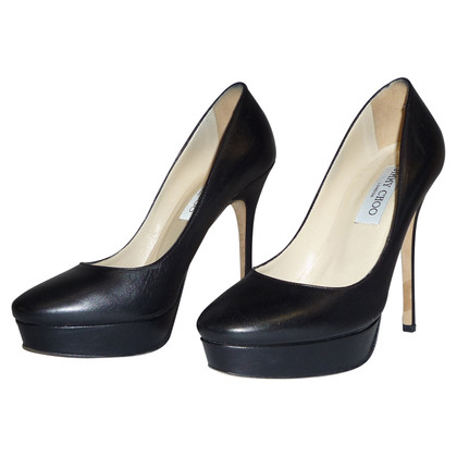Jimmy Choo ZWART Leren pumps DOOR JIMMY CHOO
