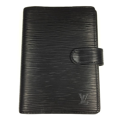 "Louis Vuitton ""Agenda Fonctionnel PM Epi Leder"" in Schwarz"