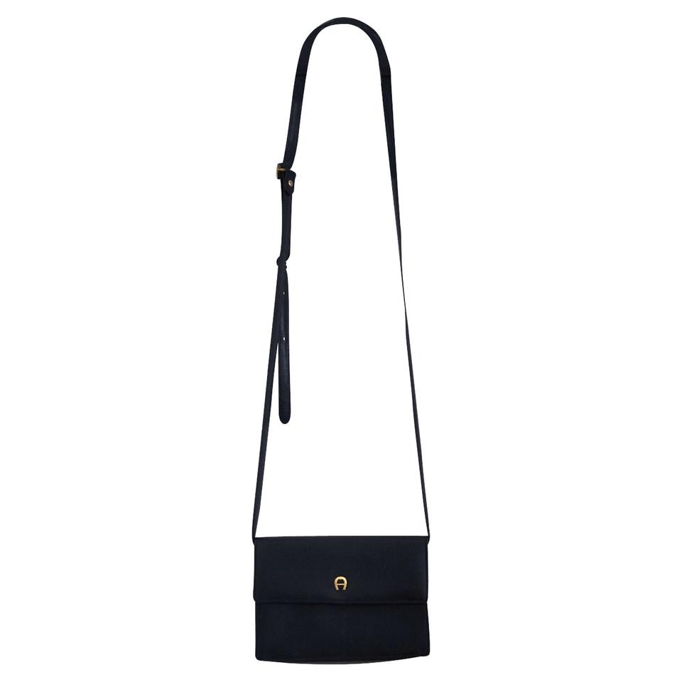 Aigner Small black leather handbag