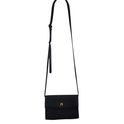 Aigner Piccola borsa in pelle nera