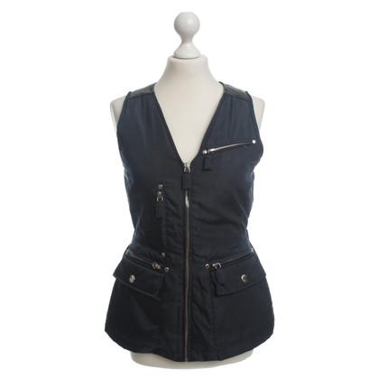 Prada Drops sleeveless Cardigan in dark blue