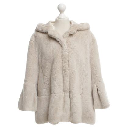 Twin-Set Simona Barbieri Short jacket with faux fur