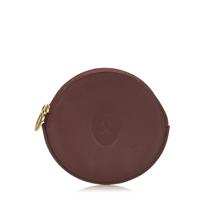 Cartier Bordeaux Must Line Coin Pouch