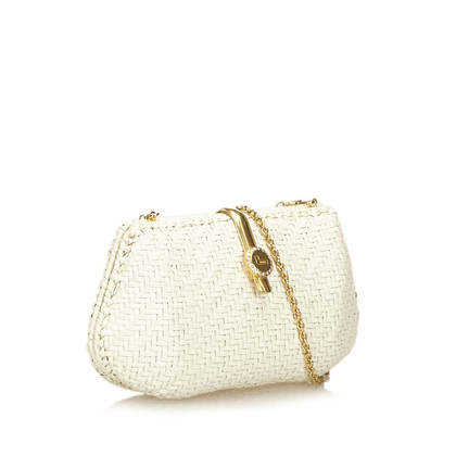 Lancel Woven Straw Shoulder Bag