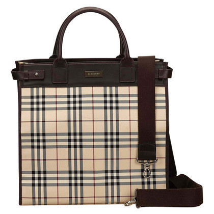 "Burberry ""Plaid Nylon Tote"""