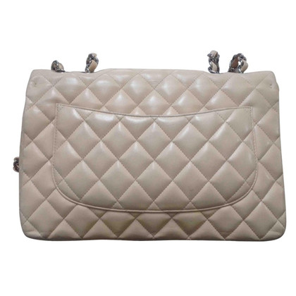 "Chanel ""Classic Jumbo Flap Bag"" in Creme"