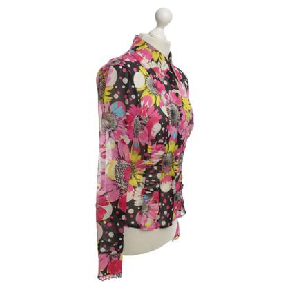 Escada camicetta di seta con stampa floreale