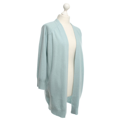 360 Sweater Kaschmir-Strickjacke in Hellblau