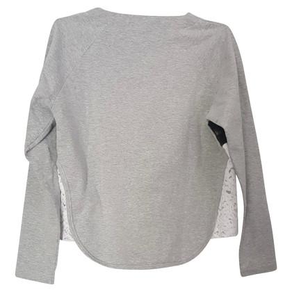 no. 21 Sweat-shirt fait de matériaux mélangés