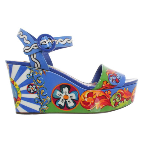 Bunt Muster Multicolor amp; Wedges Dolce Gabbana in Wedges amp; in Dolce Gabbana TzqAvP